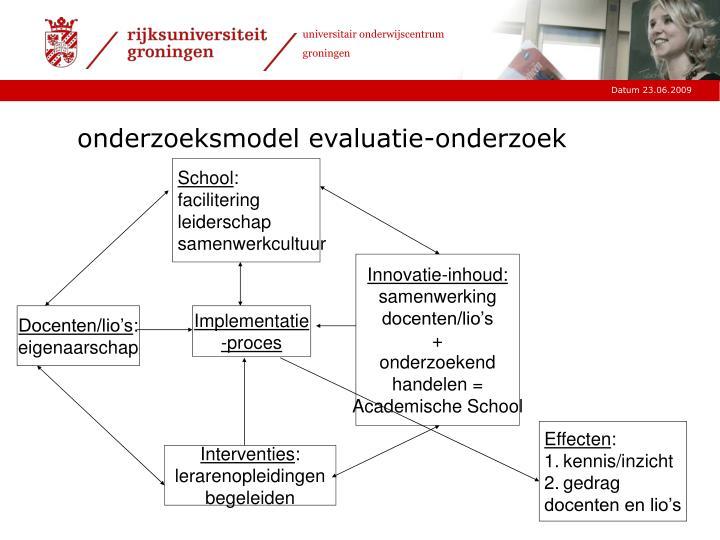 onderzoeksmodel evaluatie-onderzoek