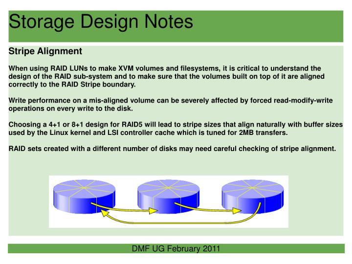 Storage Design Notes