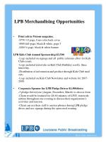 lpb merchandising opportunities