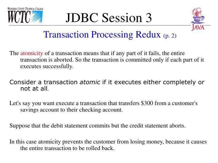 JDBC Session 3