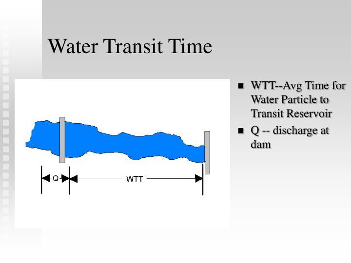 Water Transit Time