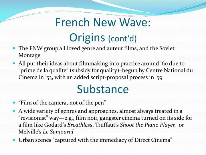 French New Wave: