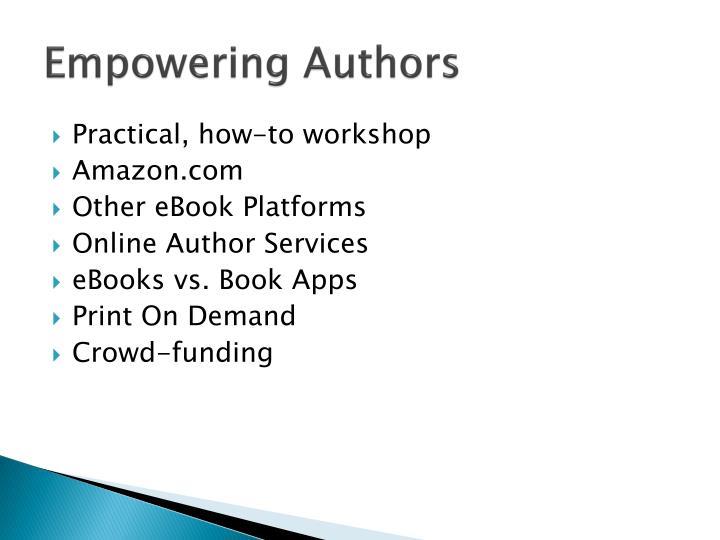 Empowering Authors