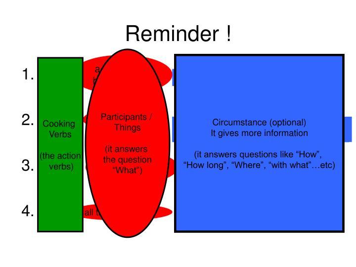 Reminder !