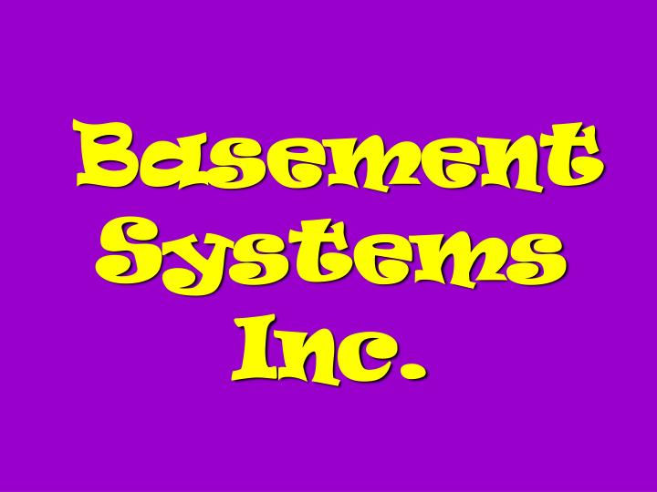 Basement Systems Inc.