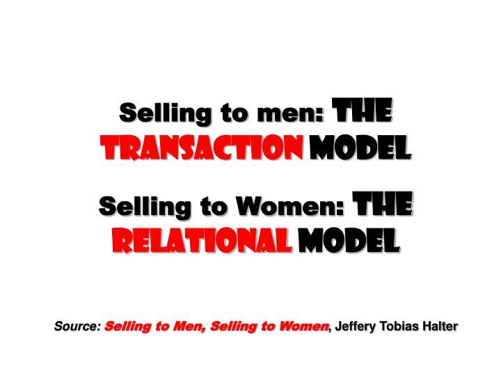 Selling to men: