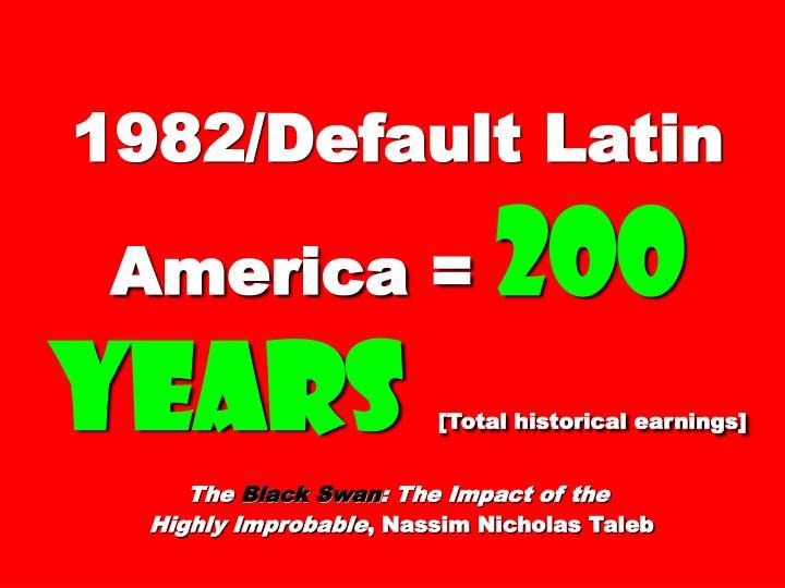 1982/Default Latin America =