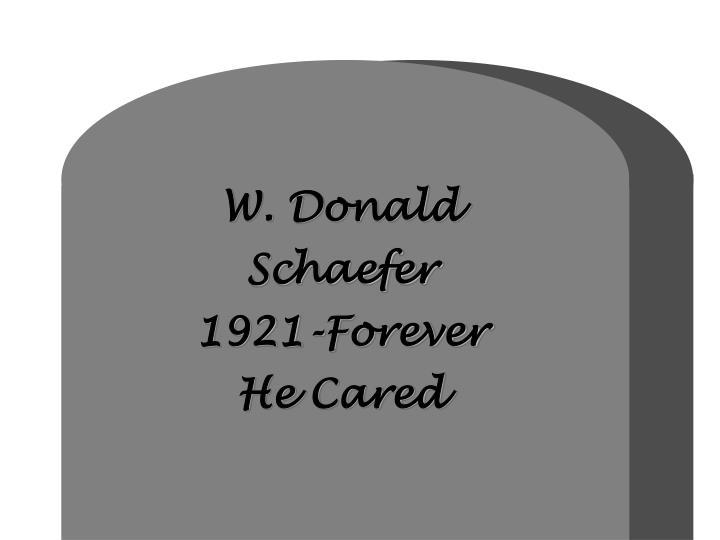 W. Donald
