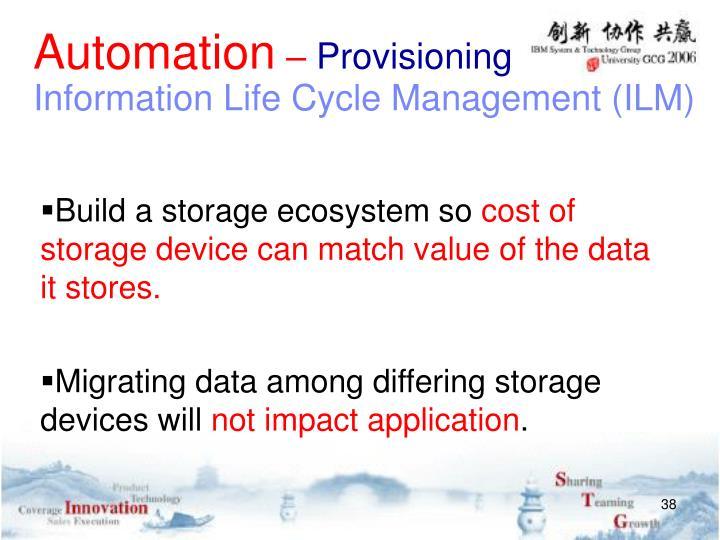 Build a storage ecosystem so