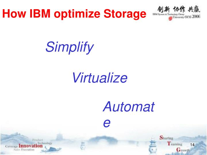 How IBM optimize Storage