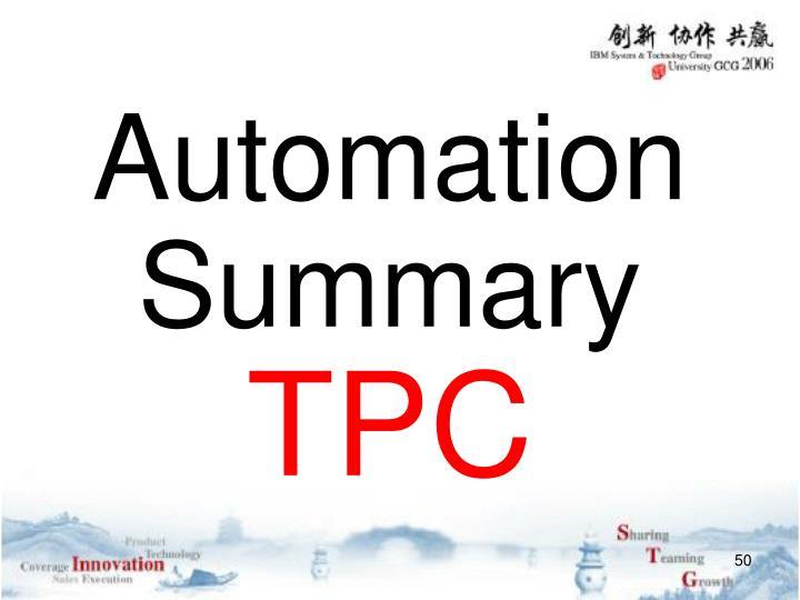 Automation Summary