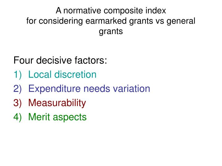 A normative composite index