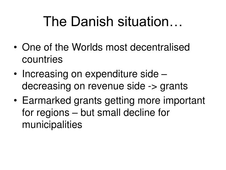 The Danish situation…