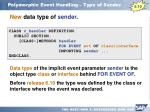 polymorphic event handling type of sender