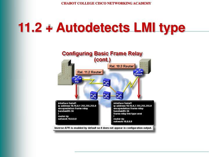 11.2 + Autodetects LMI type