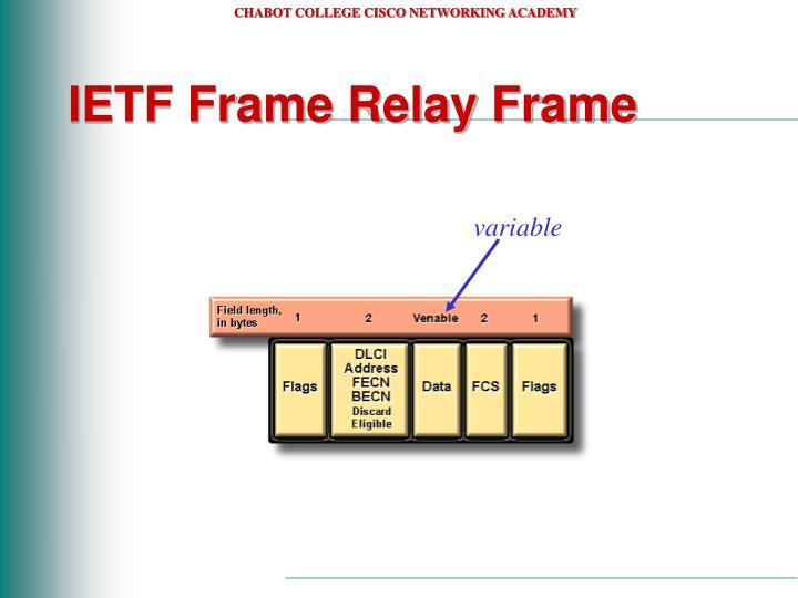 IETF Frame Relay Frame