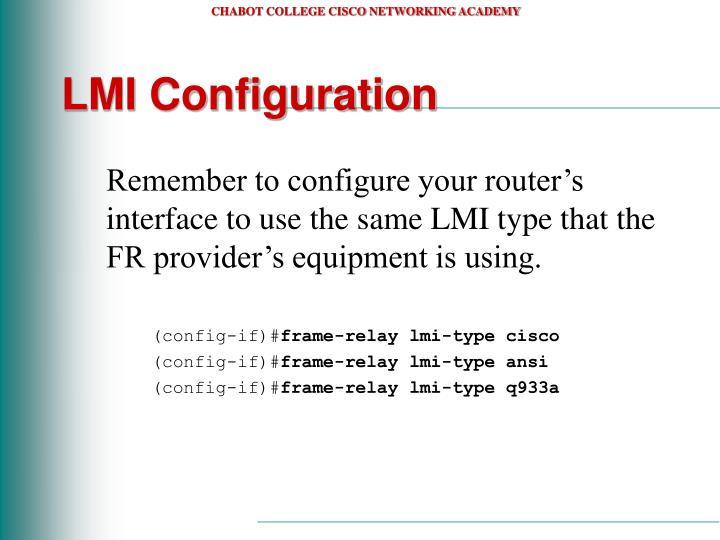LMI Configuration