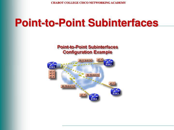 Point-to-Point Subinterfaces