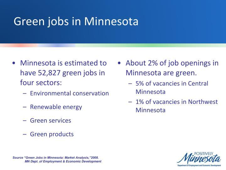 Green jobs in Minnesota