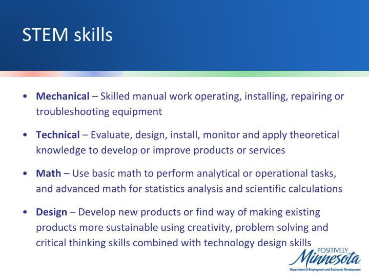 STEM skills