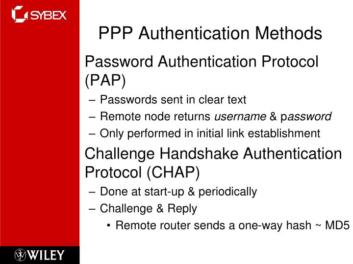 PPP Authentication Methods