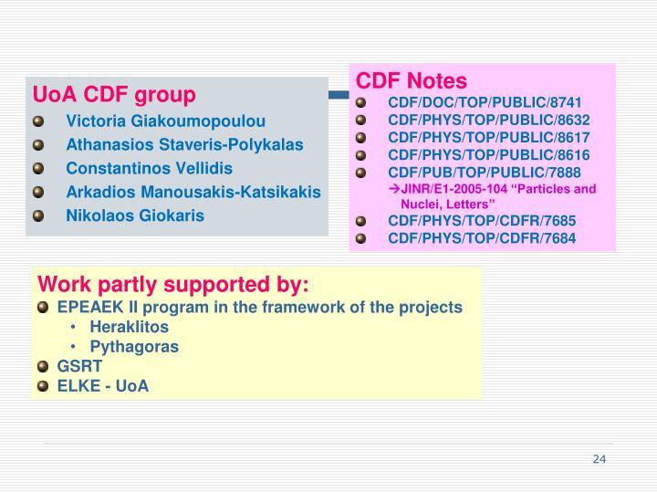 CDF Notes