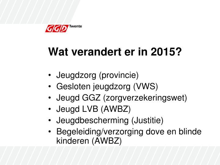 Wat verandert er in 2015