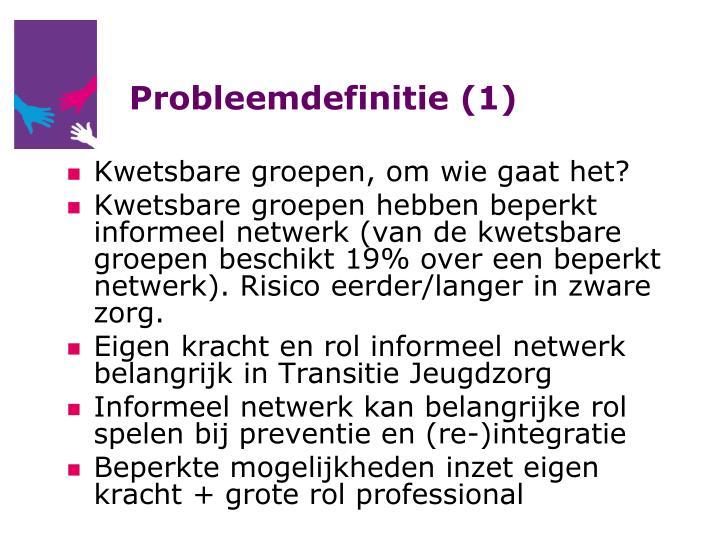 Probleemdefinitie (1)