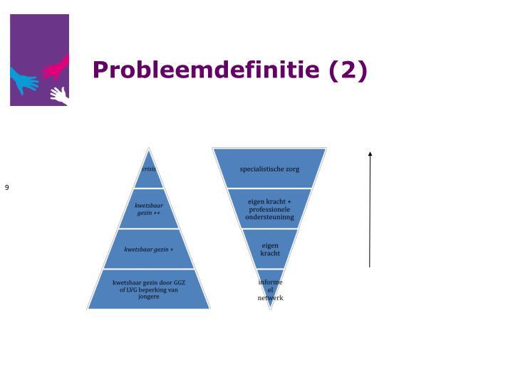 Probleemdefinitie (2)