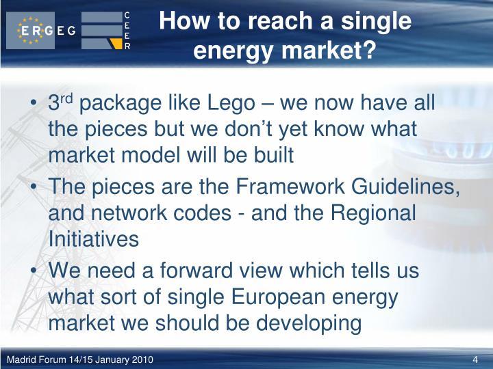 How to reach a single energy market?
