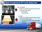 main component of truck body part1