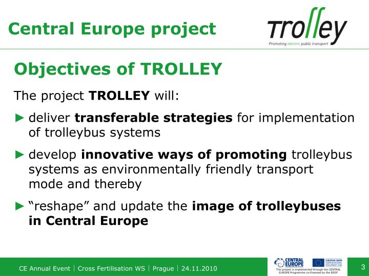 Objectives of trolley