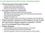 forestry based carbon offset project kakamega contd