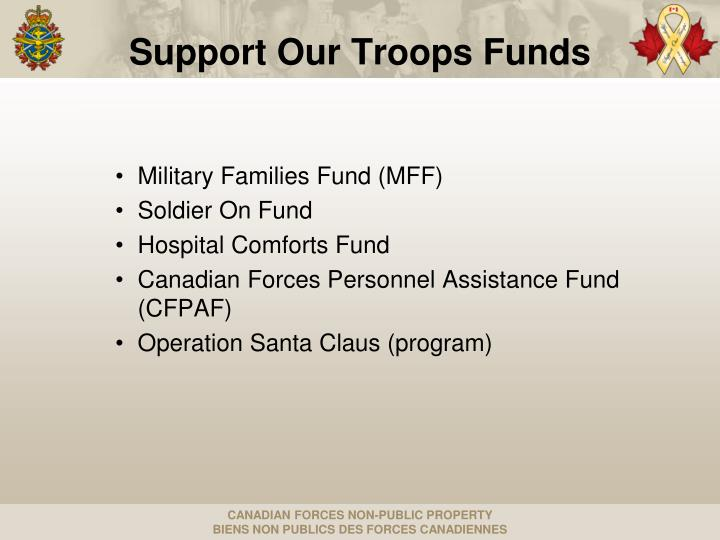 Support our troops funds