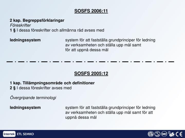 SOSFS 2006:11