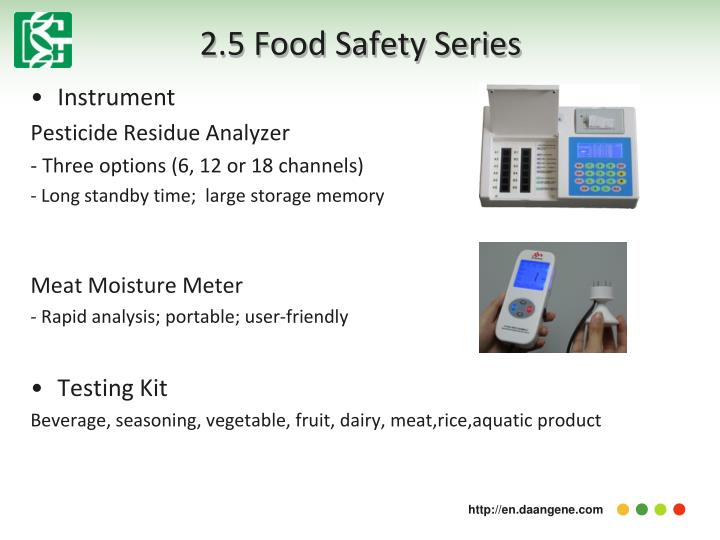 2.5 Food Safety Series