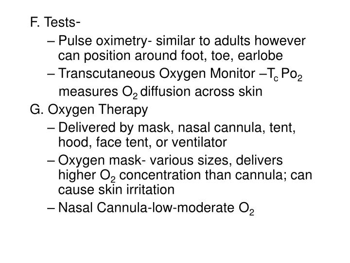 F. Tests