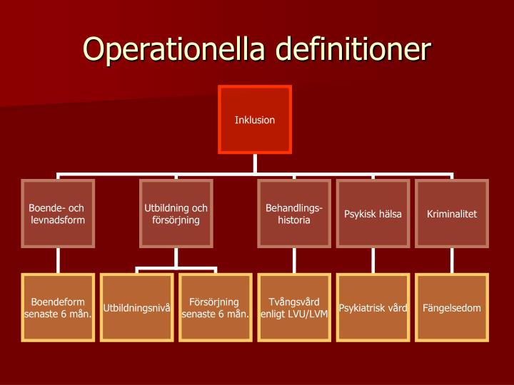 Operationella definitioner