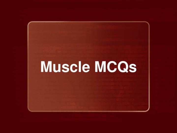 muscle mcqs n.