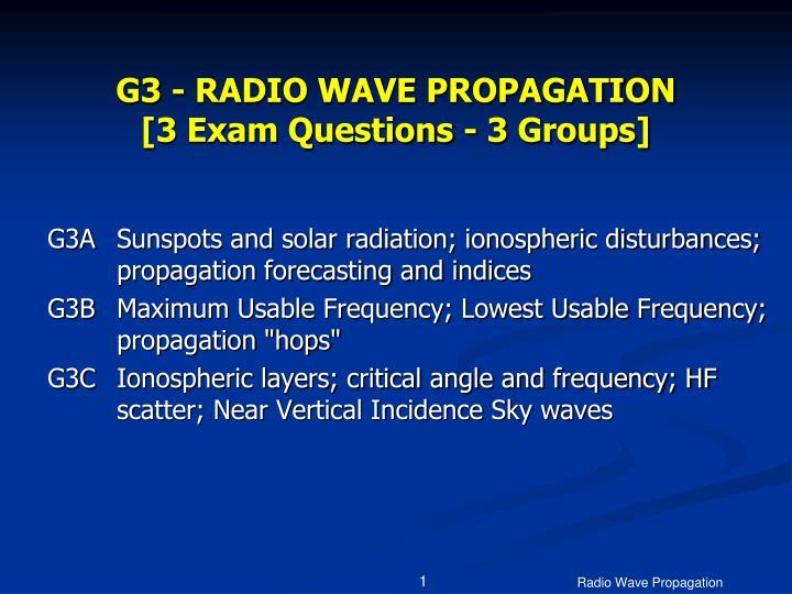 g3 radio wave propagation 3 exam questions 3 groups n.