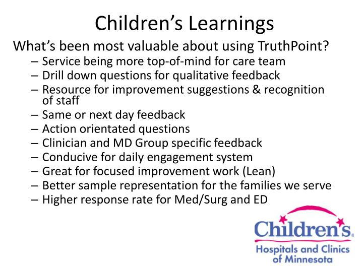Children's Learnings