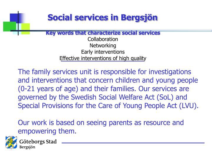 Social services in Bergsjön
