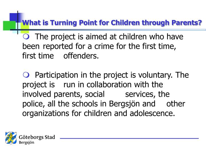 What is Turning Point for Children through Parents?