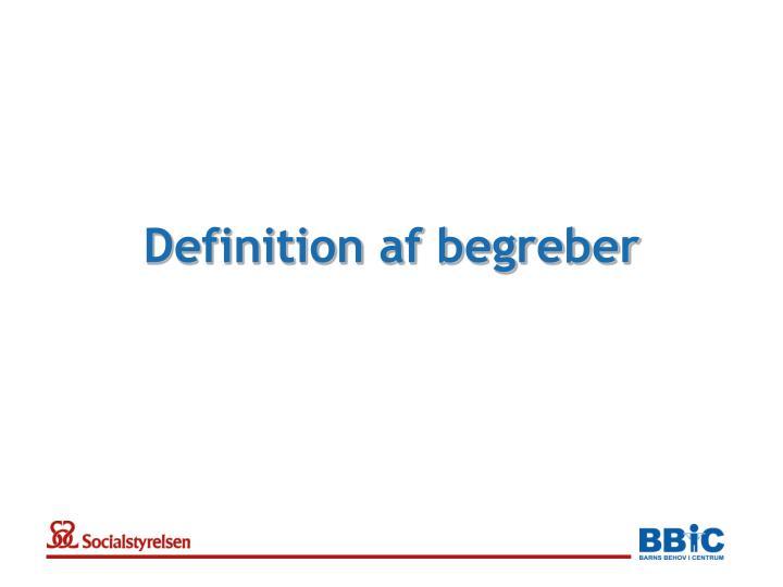 Definition af begreber