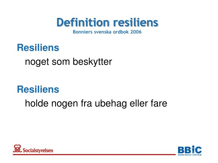 Definition resiliens