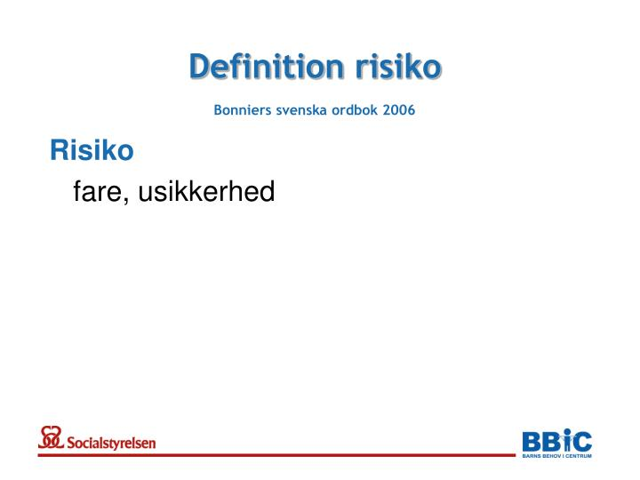 Definition risiko