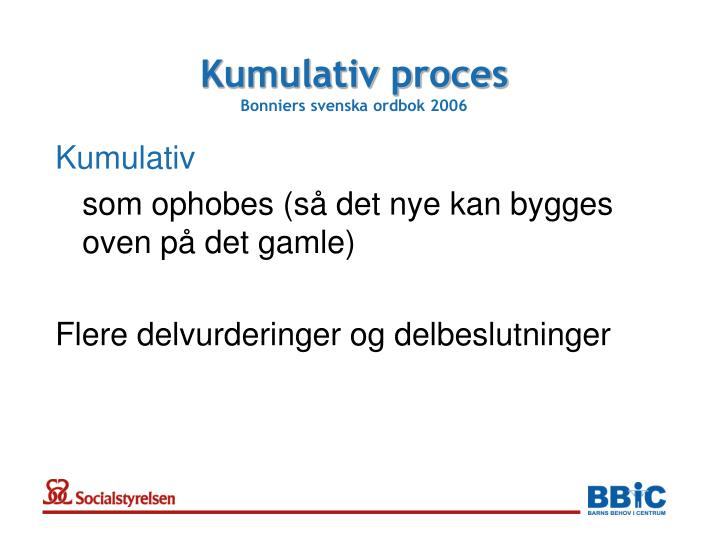 Kumulativ proces