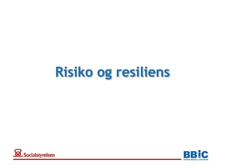 Risiko og resiliens