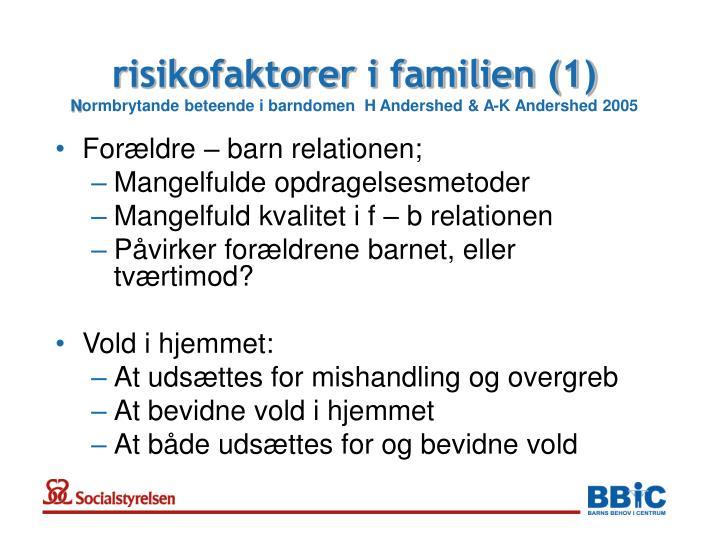 risikofaktorer i familien (1)