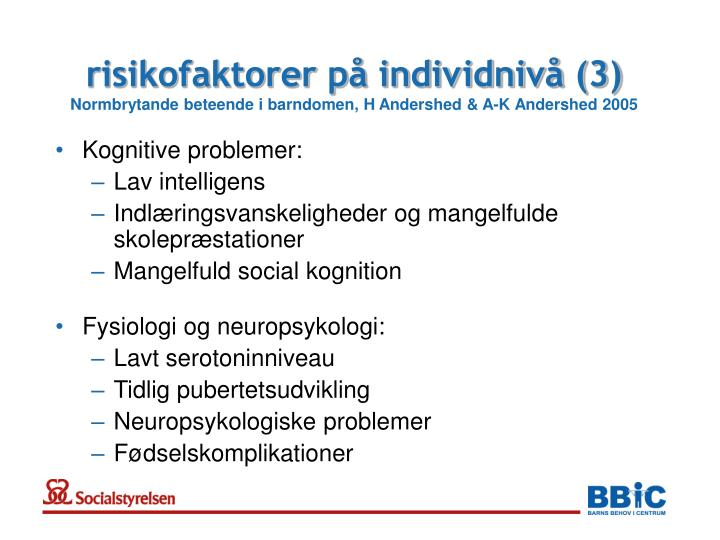 risikofaktorer på individnivå (3)